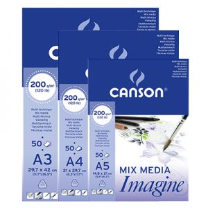 Blocs Imagine mix media blanc 200g/m2 Canson