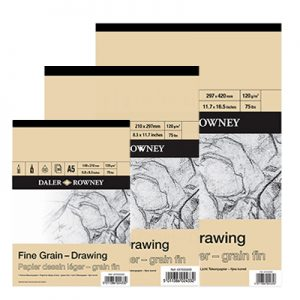 Blocs de papier grain fin Drawin Daler Rowney
