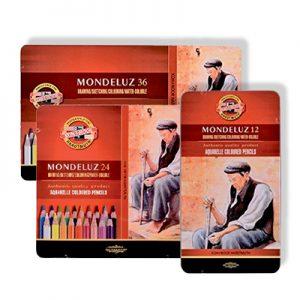 Boîtes métalliques de crayons aquarelles Mondeluz Koh-I-Noor